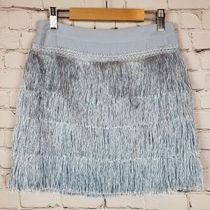 Gianni Bini Layered Fringe Roaring 20s Skirt XS